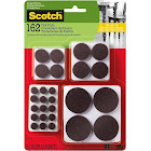 Scotch, SP847-NA, Assorted Furniture Felt Pads, 162 Felt Pads, Brown