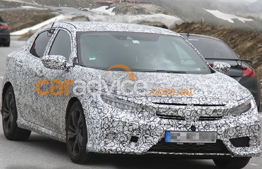 2017 Honda Civic Hatch Spotted Doing Rounds in European Alps  | CarBay