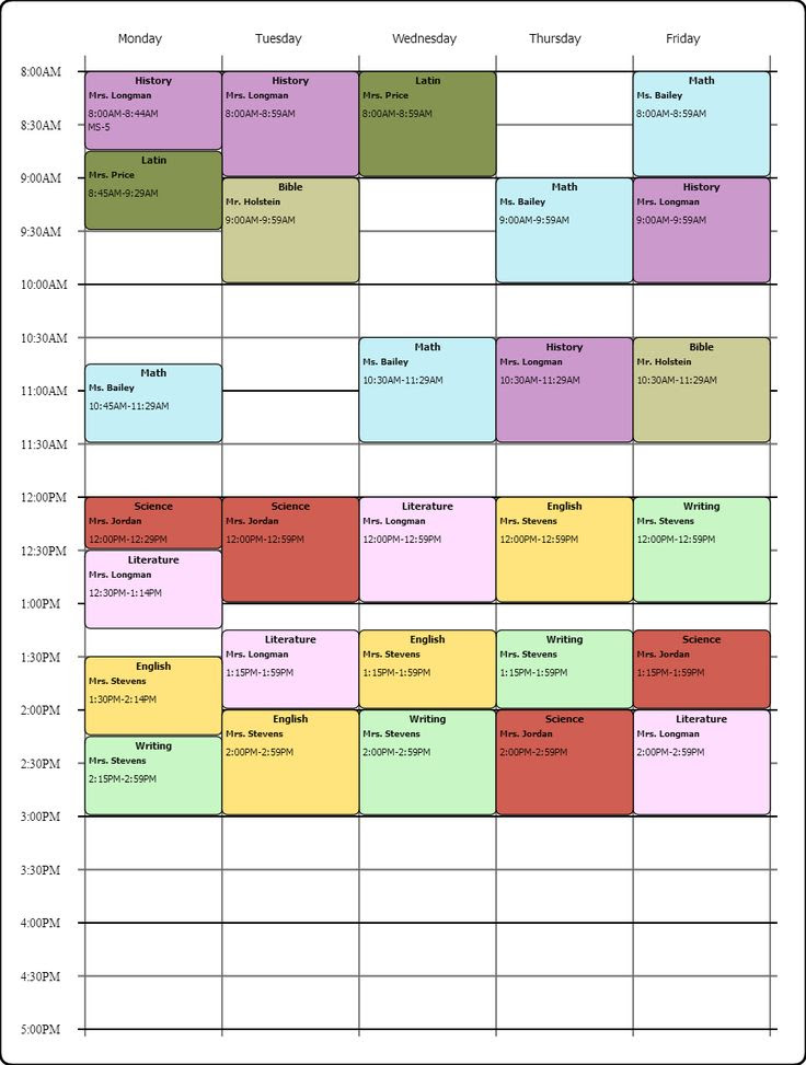 1000+ ideas about College Schedule on Pinterest   College students ...