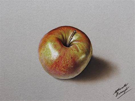 shiny apple drawing  marcello barenghi