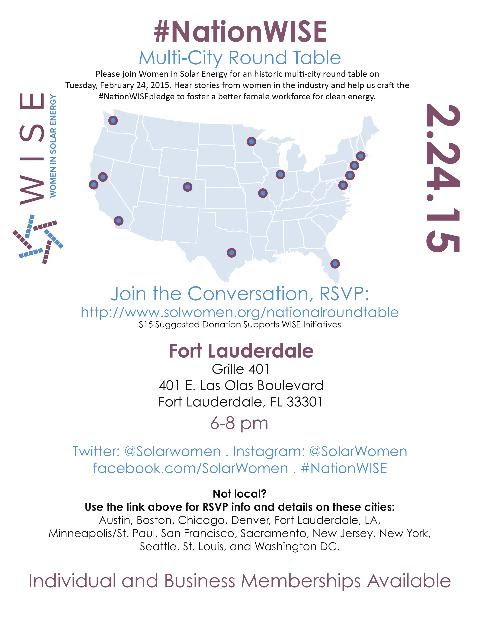 US Solar and #SolarChat to Host Florida Chapter of #nationWISE Event