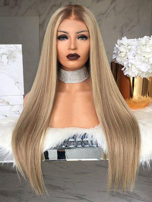Long Center Parting Straight Party Capless Synthetic Wig
