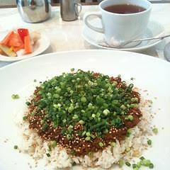 #lunch keema curry, pickles & earl grey @ Elmer's green #cafe #tea #osaka #japan