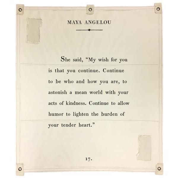 Wall Tarp Maya Angelou My Wish Sugarboo Co