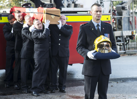Dedicated firefighter is given a hero's send off