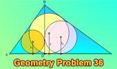 Problema 36: Triangulo rectángulo, Altura, Inradios, Catetos, Hipotenusa.