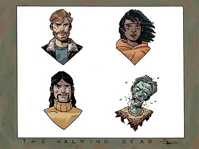 Walking Dead by Shaner