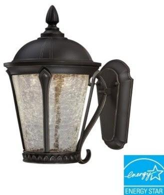 Hampton Bay Outdoor Lanterns. Cottrell Collection Wall Mounted
