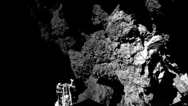 Imagen del cometa desde el Philae