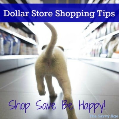 Dollar Store Shopping Tips: Save Shop Be Happy! - The Savvy Age