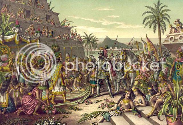 Hernán Cortés and Montezuma
