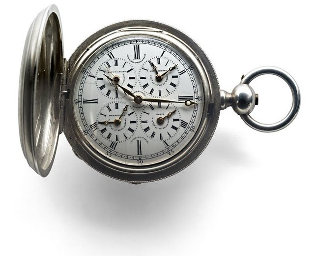 05 - HUNTER POCKET WATCH WITH WORLD TIME, GIRARD-PERREGAUX. 1850. MUSÉE GIRARD-PERREGAUX