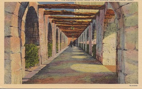 The Covered Arch Walk in The Alamo, Postcard