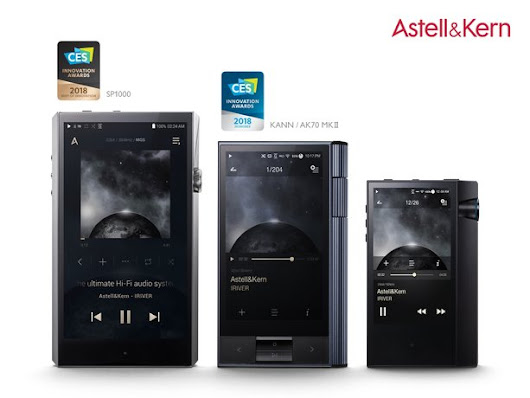 Three Astell&Kern Portable High-Resolution Audio Players Receive CES 2018 Innovation Awards