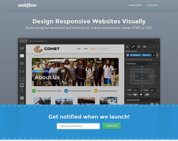 webflow.com : Single Page Website Designs Examples