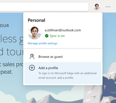 Using multiple profiles at work and at home is now easier with Microsoft Edge
