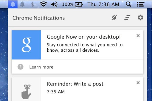 Whoa: I see Google Now cards in Chrome on my desktop