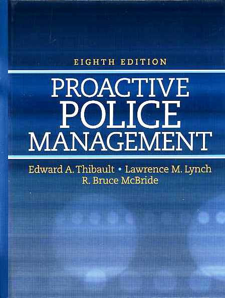 Bp4008 Proactive Police Management 8th Ed