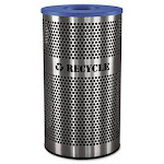 Ex-Cell Stainless Steel Recycle Receptacle, 33 gal, Stainless Steel (EXCVCR33PERFS)