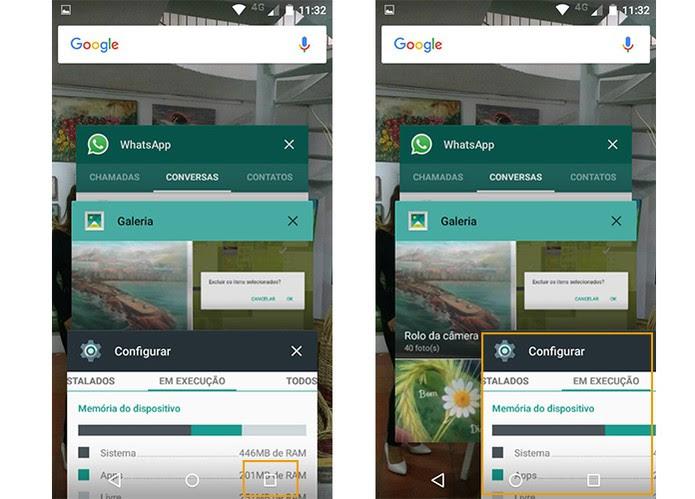 Encerre apps abertos em plano de fundo no Moto G 3 (Foto: Reprodução/Barbara Mannara)