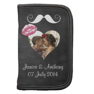Chalkboard Retro Folio mini Wedding Organizers