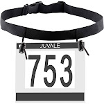 Juvale 6-Pack Running Bib Number Holder Belt for Runners, Triathlon, Marathon, and Cycling, Adult Size