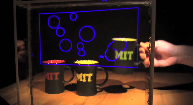 MIT nanoparticle-based transparent glass display
