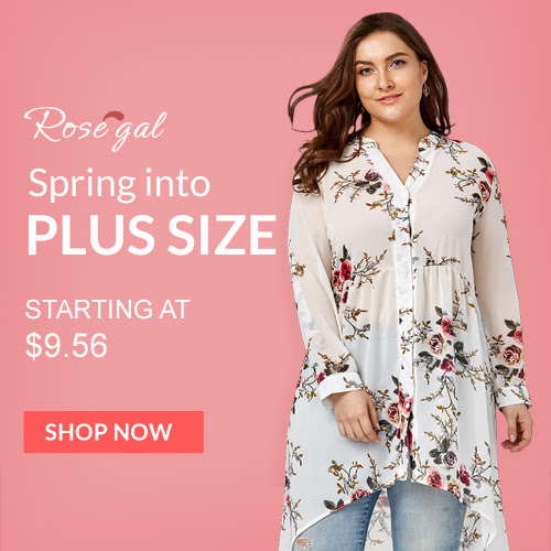 Rosegal Plus Size: Starting at $9.56 with FREE SHIPPING