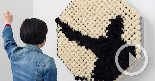 An Interactive 'Fur' Mirror by Daniel Rozin