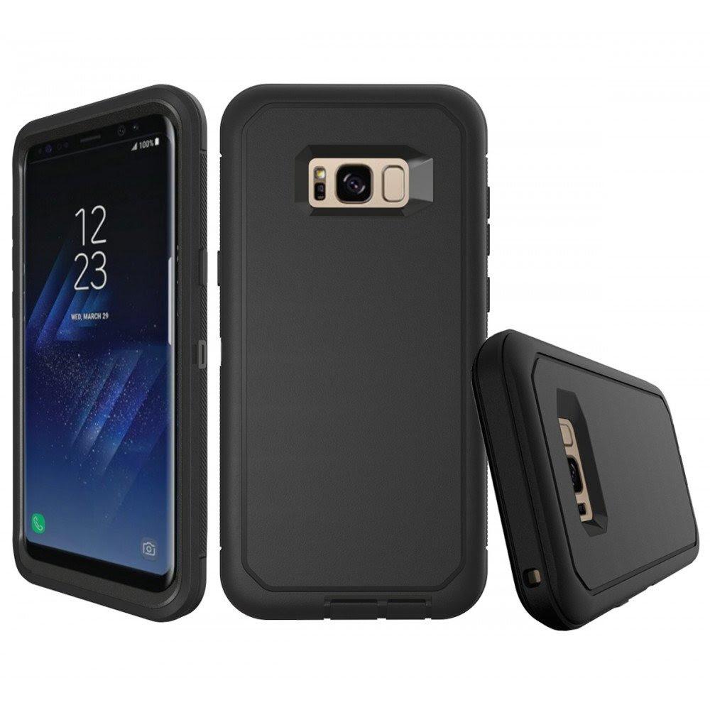 Wholesale Galaxy S8 Plus Armor Defender Case Black Black