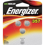 Energizer 357 ZeroMercury Batteries - 3 count
