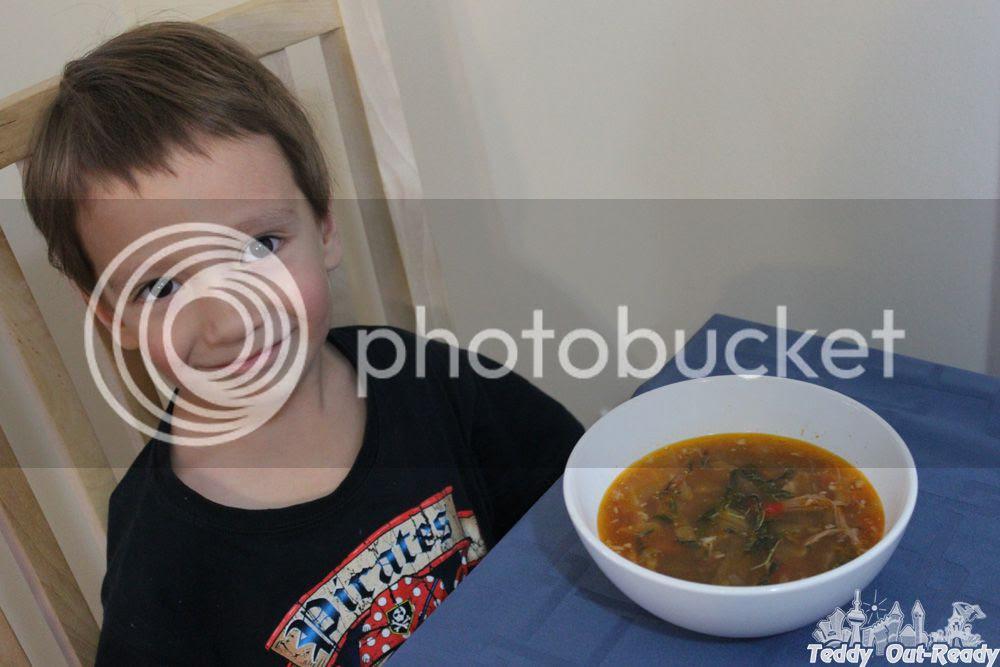 Edible Green Tea in Soup