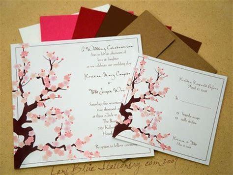 Carolien's blog: Cherry Blossom Wedding Invitation Due to