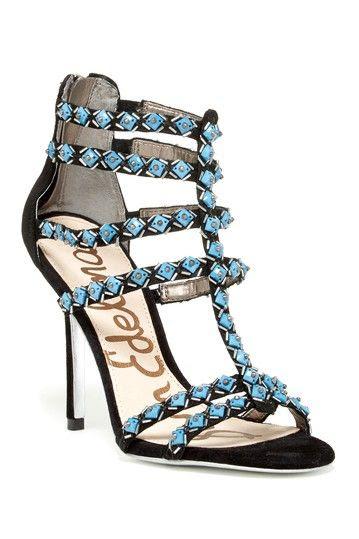 Sam Edelman Alina Turquoise Embellished High Heels