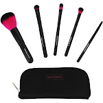 Coastal Scents Color Me Fuchsia Brush Set with Carrying Case