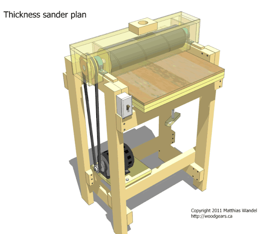 Thickness sander plans