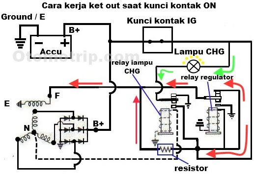 altenator schematic diagram