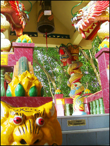 shrines as well as religious symbols are oftentimes built on hills for that  Bangkok Map: The temple on Patong Hill (Pun Tuao Kong Chinese Shrine)
