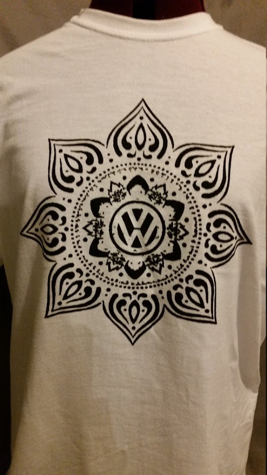 2 for 1 sale until 12-1-15   VW Mandala Tee  by badmojodesign