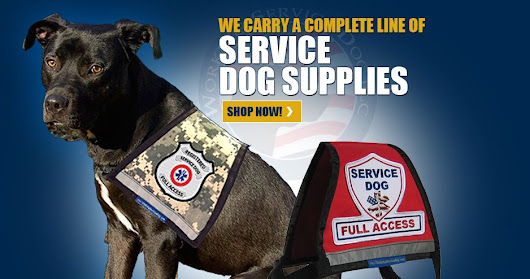 Service Dog Vests - ESA Dog Vests, Therapy Dog Vest - Patches & Accessories