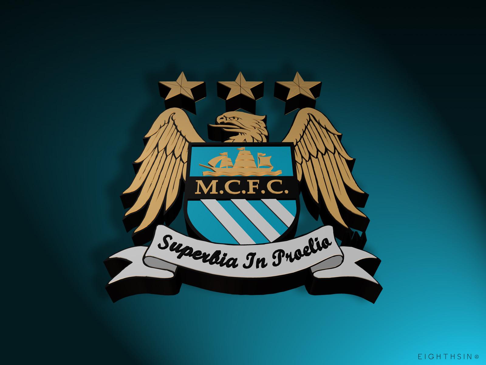 Manchester City FC Logo 3D -Logo Brands For Free HD 3D