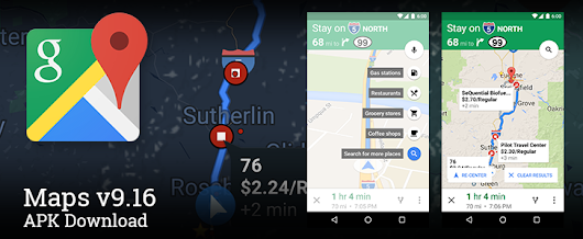 Google Maps v9.16 Adds Search For Places Along Your Current Route For Quick Stops To Get Gas And Food [APK Download]