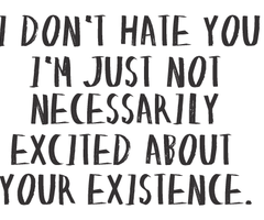 I Dont Hate You Im Just Not Necessarily Excited About Your