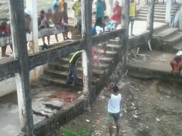 Detentos realizaram o abate dos gatos na área externa do pavilhão da Barreto Campelo  (Foto: João Carvalho/Sindasp)