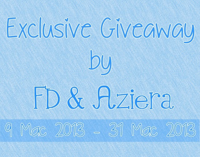 Exclusive Giveaway by FD & Aziera