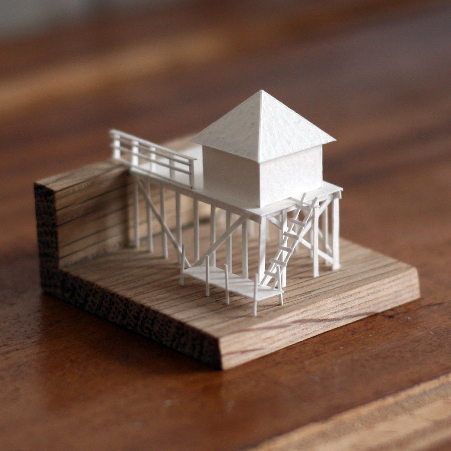 Artist Charles Young Is Building a Vast Paper City, One Tiny Model at a Time paper architecture