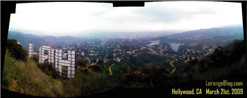 Hollywood Sign panoramic 03.21.09