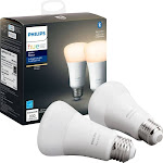 Philips Hue 929001821508 60 Watt Equivalent, A19 LED Smart, Dimmable Light Bulb, Warm White (2700K) E26/Medium (Standard) Base