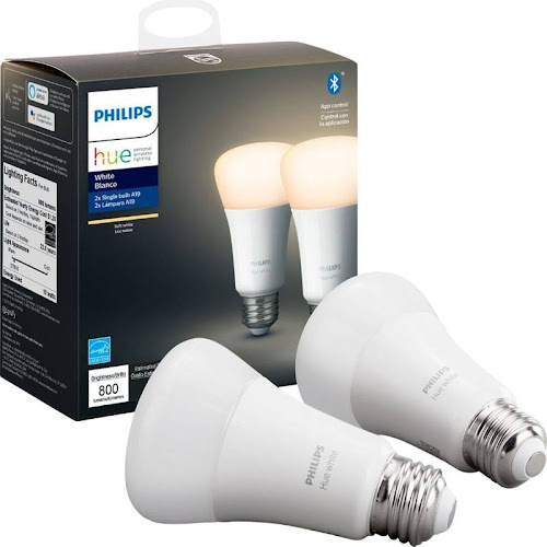 Philips 929001821508 10 Watt (60 Watt Equivalent), A19 LED Smart, Dimmable Light Bulb, Warm White (2700) E26/Medium (Standard) Base