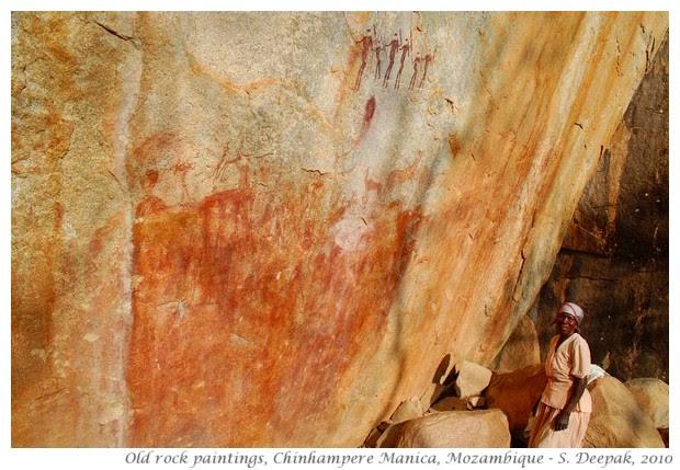 Mozambique rock paintings - S. Deepak, 2010